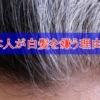 日本人が白髪を嫌う理由4選 白髪は老化の象徴だから嫌い!白髪はコンプレックスのひ